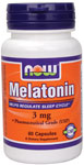 Melatonin 3 mg - 60 Capsules, NOW Foods
