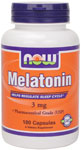Melatonin Supplement 3 mg - 180 Capsules, NOW Foods