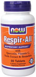 Respir-All  (  Allergy Support  ) Vegetarian - 60 Tabs, NOW Foods