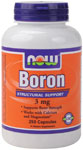Boron Supplement 3 mg - 250 Capsules, NOW Foods