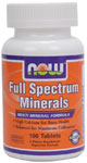 Full Spectrum Minerals Supplement - 100 Tabs, NOW Foods