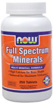 Full Spectrum Minerals - 250 Tabs, NOW Foods