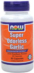 Super Odorless Garlic - 90 Capsules, NOW Foods