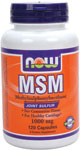 MSM Capsules 1000 mg - 120 Caps, NOW Foods
