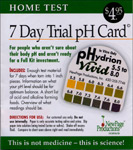 Home Test pH 7 Day Trial Card