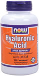 Hyaluronic Acid with MSM - 120 VCaps, NOW Foods