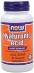 Hyaluronic Acid with MSM - 60 VCaps, NOW Foods