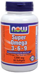 Super Omega 3-6-9 1200 mg - 90 Gels, NOW Foods