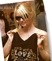 "Nicolette Sheridan and Rock Solid ""Love"" Tank"