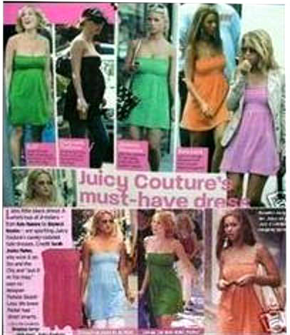 Beyonce, Olsen Twins, Sarah Jessica Parker, Jessica Simpson in Juicy Tube Dress