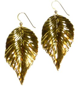 Kipepeo Gold Leaf Earrings