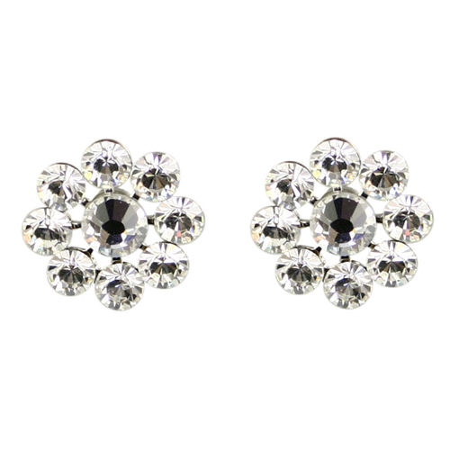 Tarina Tarantino Crystal Flower Earrings -Crystal