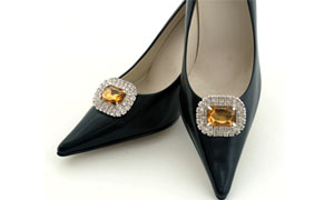 Absolutely Audrey Paris Shoe Clip (Amber)