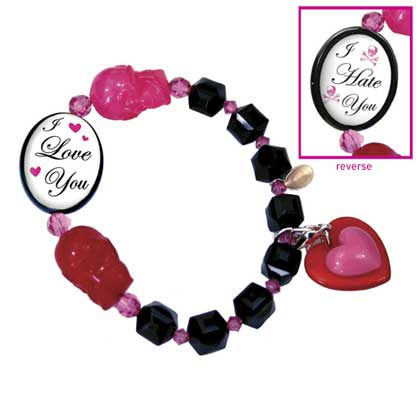 Tarina Tarantino Double Sided Love You Hate You Cameo Lucite Bracelet *PRE-ORDER*