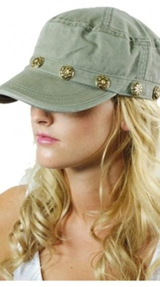 Brokedown Vintage Button Olive Cadet Hat