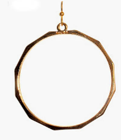 Kipepeo Gold Hoop Earrings