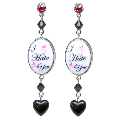 Tarina Tarantino Love You Hate You Drop Earrings