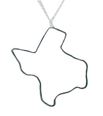 Kris Nations Texas Pendant Necklace (Silver)