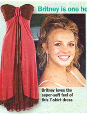 Britney Spears in Sweetees Chloe Dress