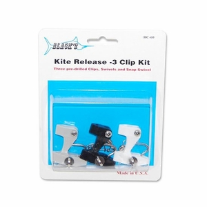 Blacks 3Pc Kite Release Clips RC-60