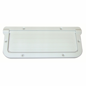 T & H Marine Rectangular Scupper - White Mfg# LRS-2-DP