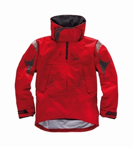 OS21S Offshore 3 Layer Smock: Silver - Red