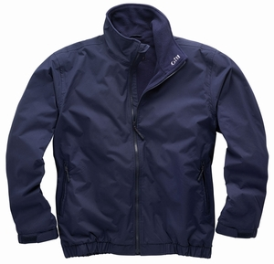 1040 Crew Jacket: Charcoal - Navy - Red