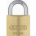 Abus 55/30 Economy Solid Brass Padlock with Hardened Steel Shackle