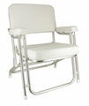 Wise Classic Folding Deck Chair -White