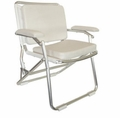 Wise Euro Style Folding Deck Chair -White