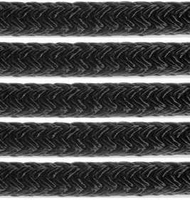 Samson Solid Color Double Braid Pre-Spliced Dock Line -Black