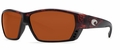 Costa 580P Tuna Alley Sunglasses: Tortoise / Copper Mfg#TA-01-OCP