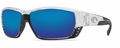 Costa 400G Tuna Alley Sunglasses: Crystal / Blue Mirror Mfg#TA-39-OBMGLP