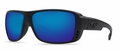 Costa 580G Double Haul Sunglasses: Black Out / Blue Mirror Mfg#DH-01-OBMGLP