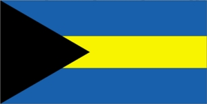 "16"" X 24"" Bahamas Merchant Flag Nylon"