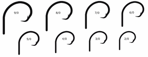 Mustad Ultrapoint Demon 2X Strong Perfect Offset Circle Hooks (39941BLN)