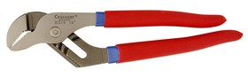 "Crescent  10"" Tongue and Groove Pliers, Straight Jaws, Cushion Grip, Carded"