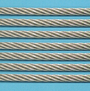 Suncor 7 X 19 Wire Rope 316 S.S (By The Foot)
