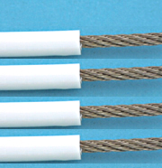 Suncor White PVC Coated 7 X 7 Wire Rope 316 S.S (By The Foot)