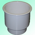 White Recessed Drink Holder