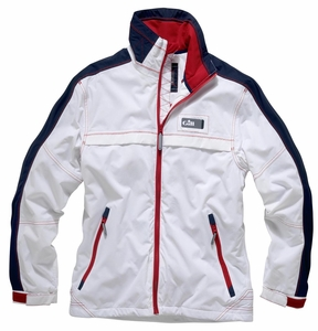 1051 Spinnaker Jacket: White - Navy