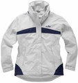 IN31JW Women's Inshore Lite Long Jacket: Silver - Sky Blue