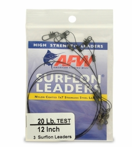 AFW Surflon Leaders -Black