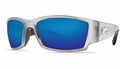 Costa Corbina Sunglasses: Silver / Blue Mirror - MFG#CB-18-BMGLP