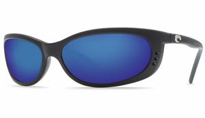 Costa 580 Fathom Sunglasses: Black / Blue Mirror - MFG#FA-11-OBMGLP