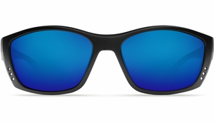 Costa 580 Fisch Sunglasses: Black / Blue Mirror - MFG#FS-11-OBMGLP