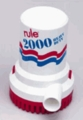 Rule 2000 Submersible Bilge Pump, 24 Volt, Model 12