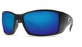 Costa 580 Blackfin Sunglasses: Black / Blue Mirror - MFG#BL-11-OBMGLP