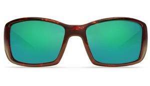 Costa Blackfin Sunglasses: Tortoise / Green Mirror - MFG#BL-10-GMGLP