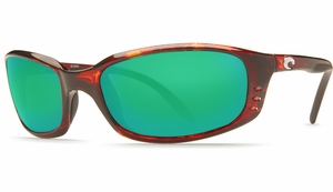 Costa Brine Sunglasses: Tortoise / Green Mirror - MFG#BR-10-GMGLP